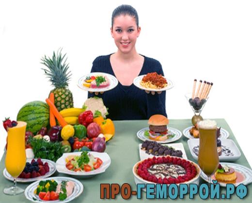 Как нужно питаться при внутреннем геморрое?
