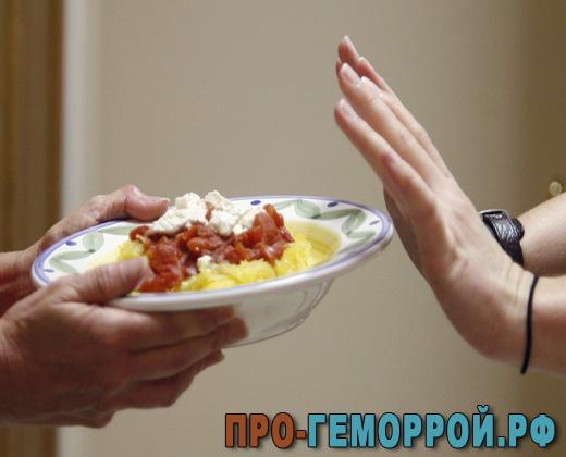 Питание после операции геморроя