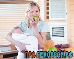 Питание кормящей мамы при геморрое